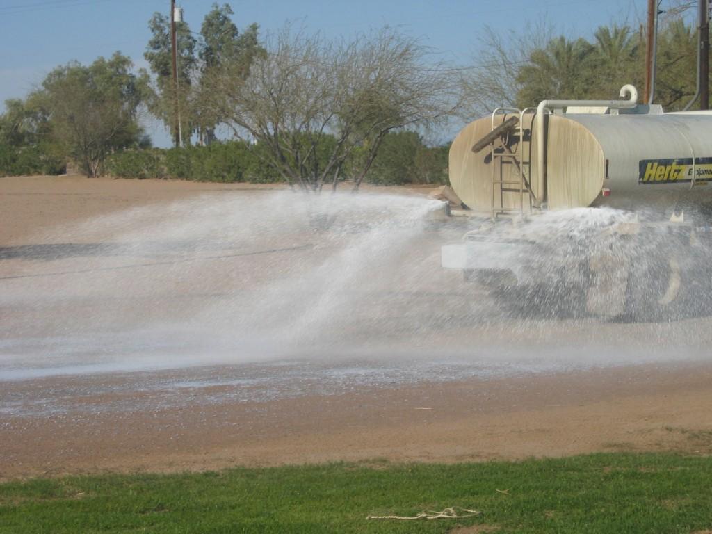 Construction sites soil stabilization dust control road construction for Construction interior dust control